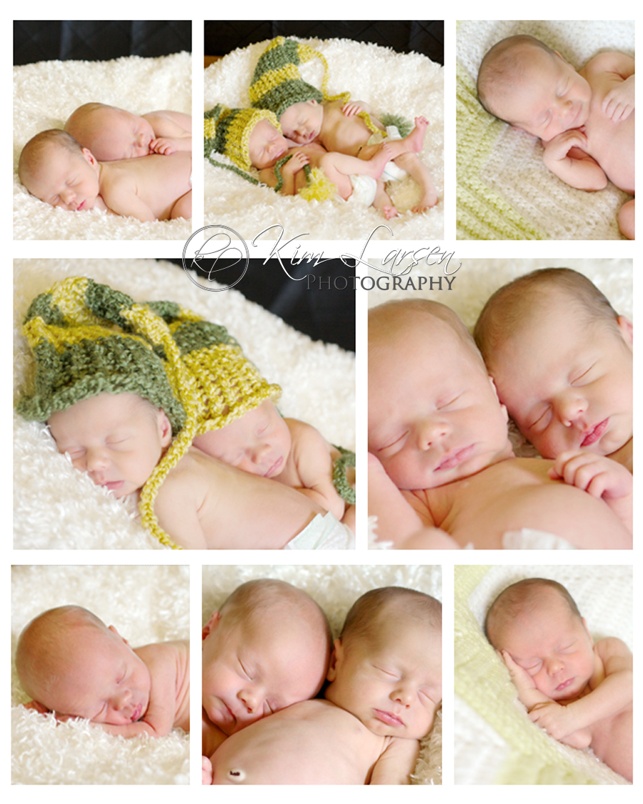 Newborn Twin Portraits ©Kim Larsen Photography