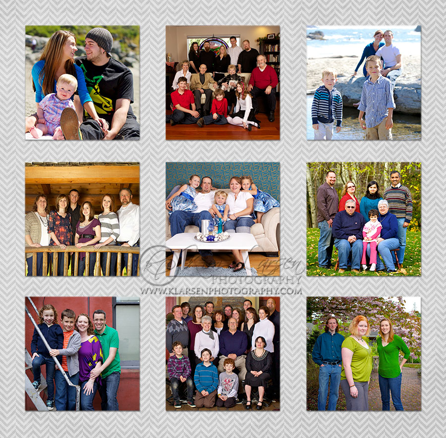 Family Portrait Collage ©Kim Larsen Photography, 2012