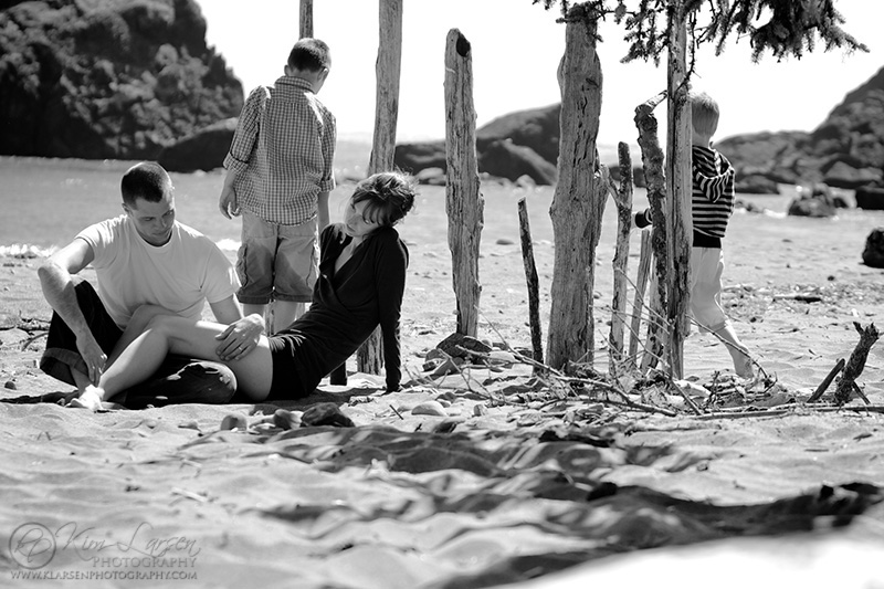 Beach Family Portrait ©Kim Larsen Photography, 2011